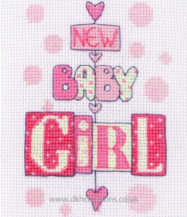 New Baby Girl Cross Stitch Kit